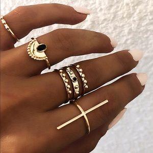 Jewelry - BUY 2 GET 1 FREE✨ 6 gold midi rings set
